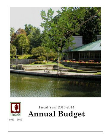 FY 2013-2014 Budget - City of Urbana