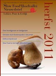 nieuwsbrief - herfst 2011 - Slow Food Nederland
