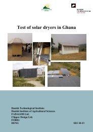 Test of solar dryers in Ghana - Solenergi.dk