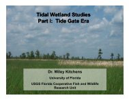 Tidal Wetland Studies Part I: Tide Gate Era - University of Florida