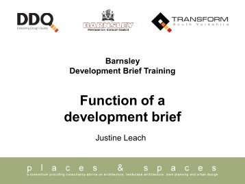Function of a development brief - DDQ - Delivering Design Quality