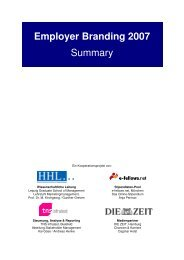 Employer Branding 2007 Summary - Die Zeit
