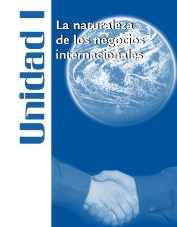 La naturaleza de los negocios internacionales La naturaleza de los ...