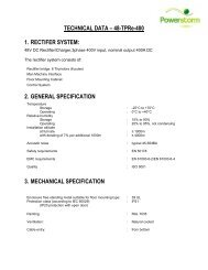 TECHNICAL DATA – 48-TPRe-400 1. RECTIFER ... - Powerstorm