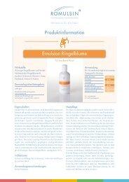 Produktinformation Emulsion Ringelblume - diacosa.ch