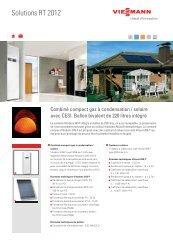 Combiné compact gaz à condensation/solaire avec CESI - Viessmann