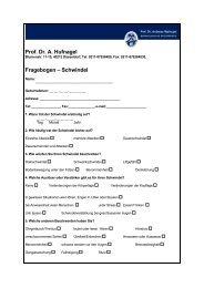 Fragebogen – Schwindel - WOin Gesundheit