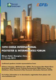 10th china international polyester & intermediates forum - FiberSource