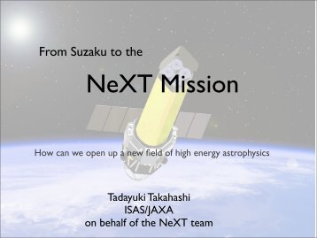 From Suzaku to the - X-ray Astronomy Group at ISAS