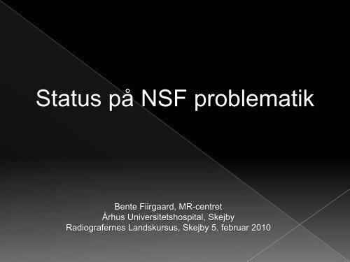 NSF problematik - Foreningen af Radiografer i Danmark