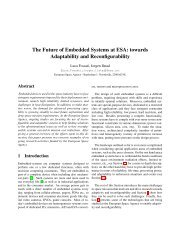 The Future of Embedded Systems at ESA: towards Adaptability and ...