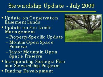 Stewardship Update - July 2009 - Sonoma County Agricultural ...