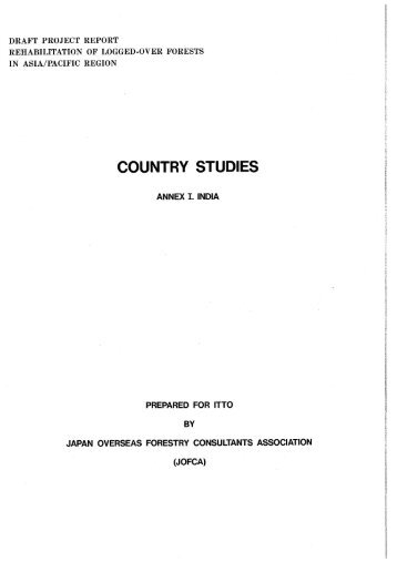 Country Study Annexes - ITTO
