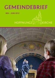 GEMEINDEBRIEF - Hoffnungskirche zu Pankow