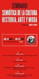 SEMINARIO SEMIÓTICA DE LA CULTURA HISTORIA, ARTE Y MODA