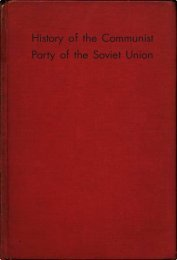 HIstory of the Communist Party of the Soviet Union - From Marx to Mao