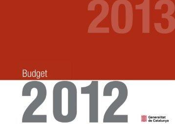 2012 budget - Generalitat de Catalunya