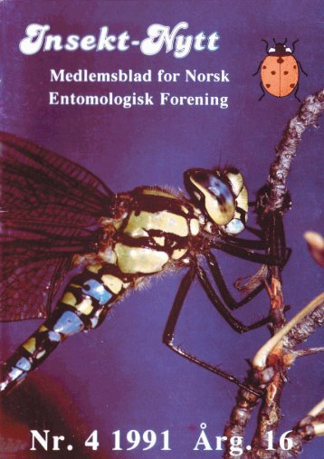 Entorno-~g~sk F-rening - Norsk entomologisk forening