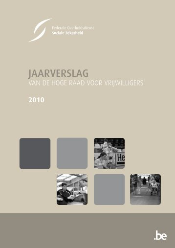 Activiteitenverslag 2010 (.pdf) - FOD Sociale Zekerheid
