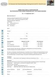 Anmeldeformular - Deutschsprachige Arbeitsgemeinschaft für ...