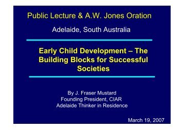 Early Child Development - Adelaide Thinkers in Residence