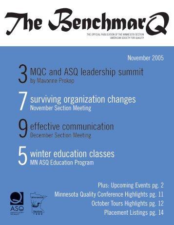 MQC and ASQ leadership summit - Minnesota Section ASQ