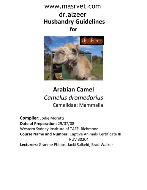 Storage industry reindeer and camel husbandry products