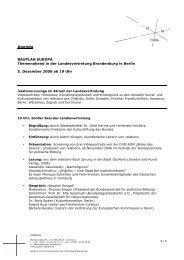 Agenda und Protagonisten - Projekt Relations