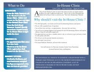 What to Do In-House Clinic - Alice Hyde Medical Center