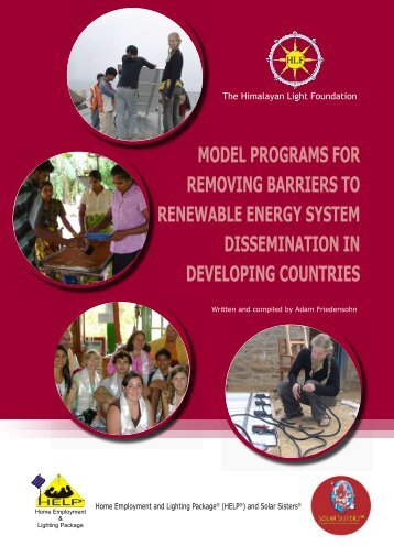 model programs for removing barriers to renewable energy system ...