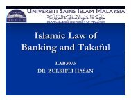 Regulation on Islamic Finance