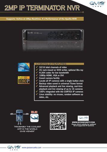 2MP IP TERMINATOR NVR - Qvis Security