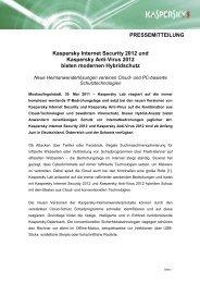 Kaspersky Internet Security 2012 und Kaspersky Anti-Virus 2012 ...