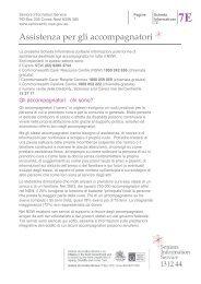 Assistenza per gli accompagnatori - Seniors Information Service