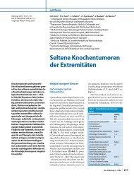 Seltene Knochentumoren der Extremitäten - Springer