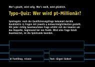Spiel 2 - Fontblog