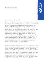 Medienmitteilung Schweizer Beratungsmarkt entwickelt sich ... - Asco