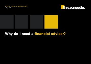 Why do I need a financial adviser? - Threadneedle - Investments