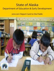 State Report Card 2010-2011 - Alaska Department of Education ...