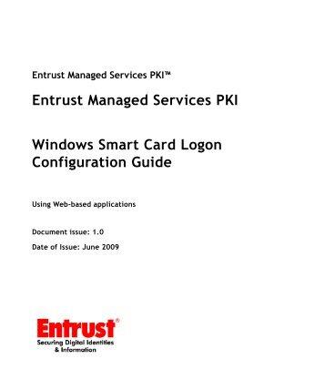 Entrust Managed Services PKI: Windows Smart Card Logon ...