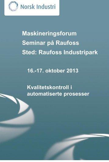 Program - Norsk Industri