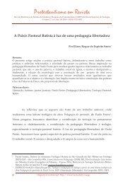 A Práxis Pastoral Batista à luz de uma pedagogia ... - Faculdades EST