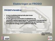 Etableringen av FROSIO