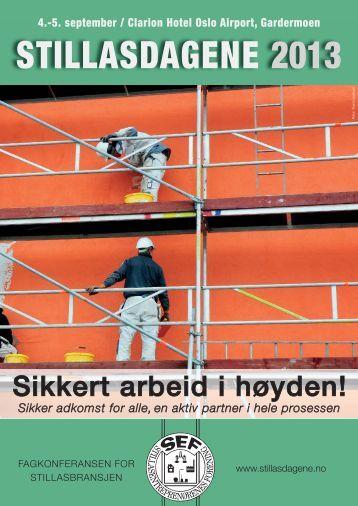 STILLASDAGENE 2013 - Norsk Industri