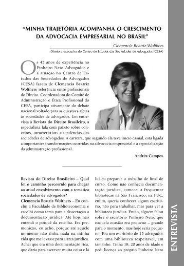 entrevista com a Diretora Executiva do CESA, Clemencia Beatriz ...