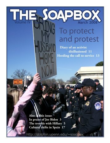 March – Volume IV Issue 2 - Penn Political Review