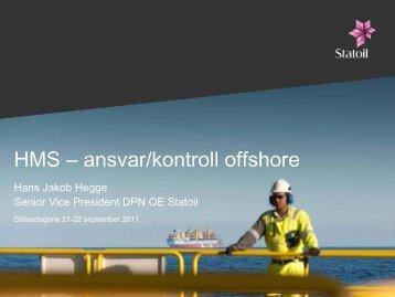 HMS – ansvar/kontroll offshore