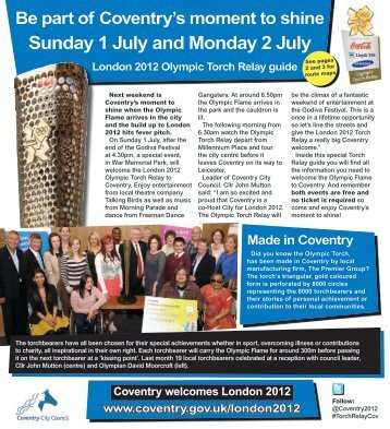 London 2012 Torch Relay Guide.pdf - Coventry CEN