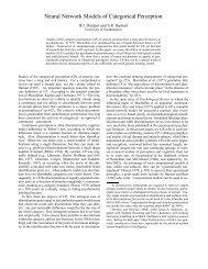 Neural Network Models of Categorical Perception - Cogprints