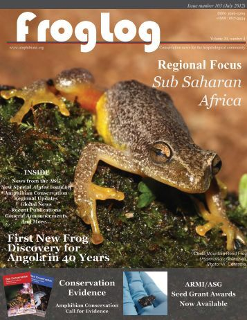 FrogLog 103 PDF here - Amphibian Specialist Group